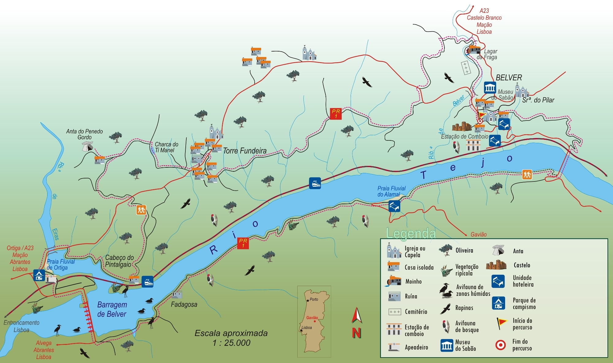 Mapa trilho do alamal