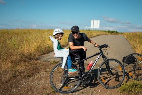 cadeira de bicicleta para criança