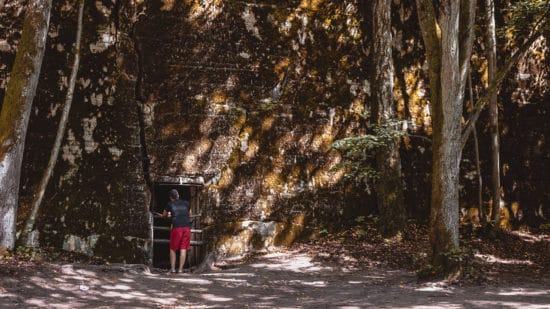 Wolf's lair Hitler's Bunker in Poland