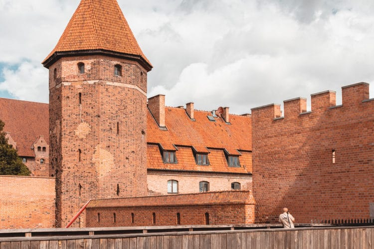 Malbork castle walls