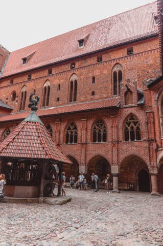 Malbork castle courtyard