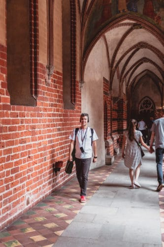 Walking inside Malbork castle