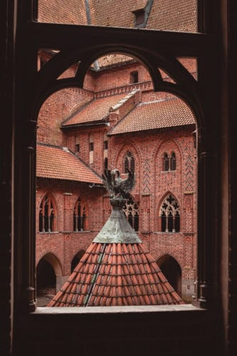 Malbork castle window view