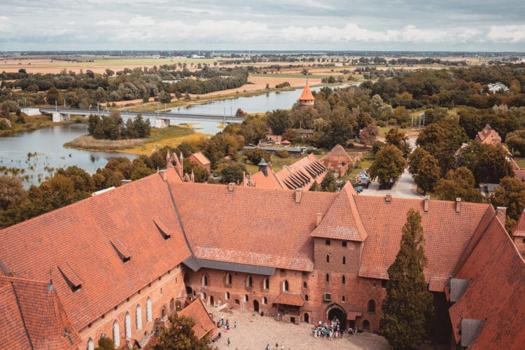 View from the tower Malbork castle