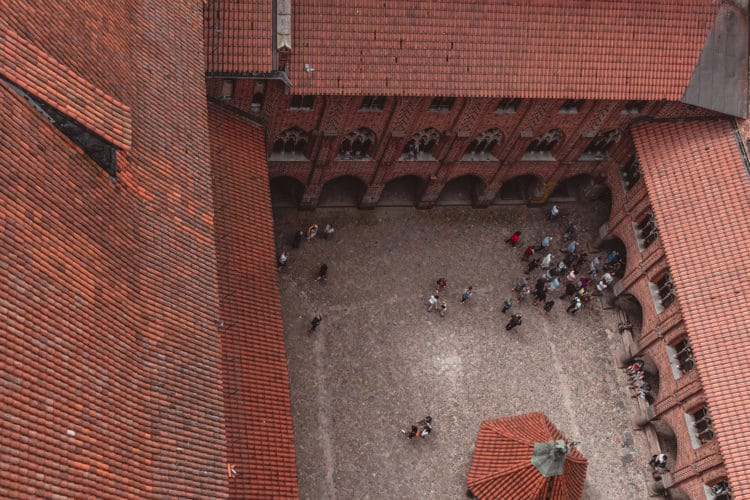 View from the top Malbork castle