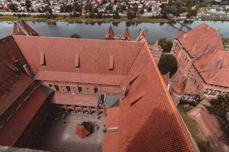 Malbork castle and the river