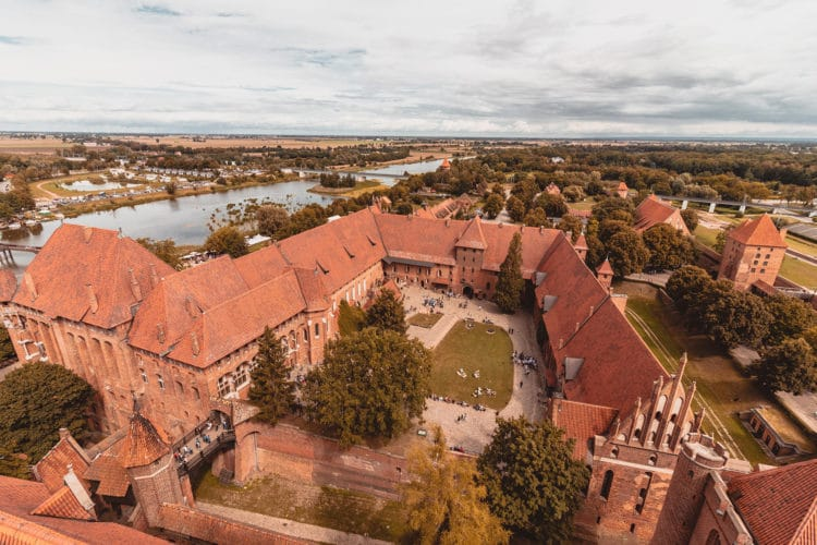 Malbork castle the river and surroundings