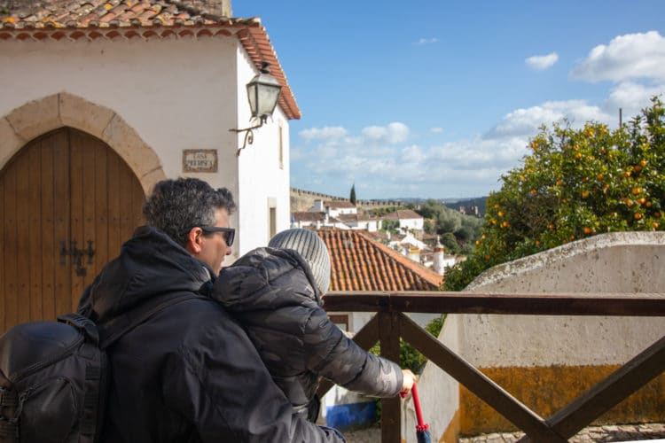 enjoying the view in Obidos