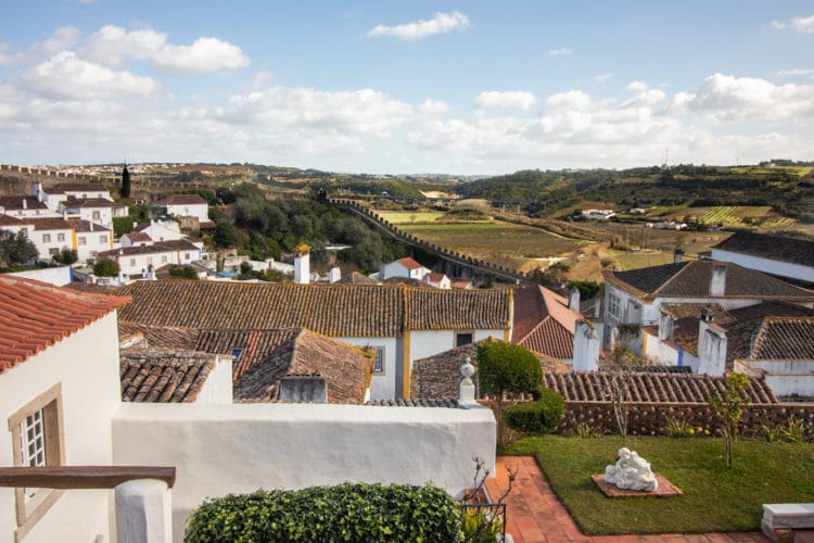View from near the castle walls of Obidos