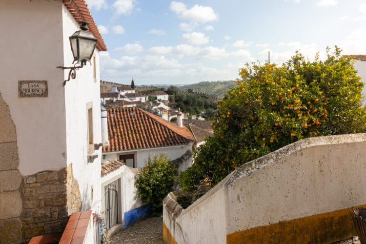 the small streets of Obidos