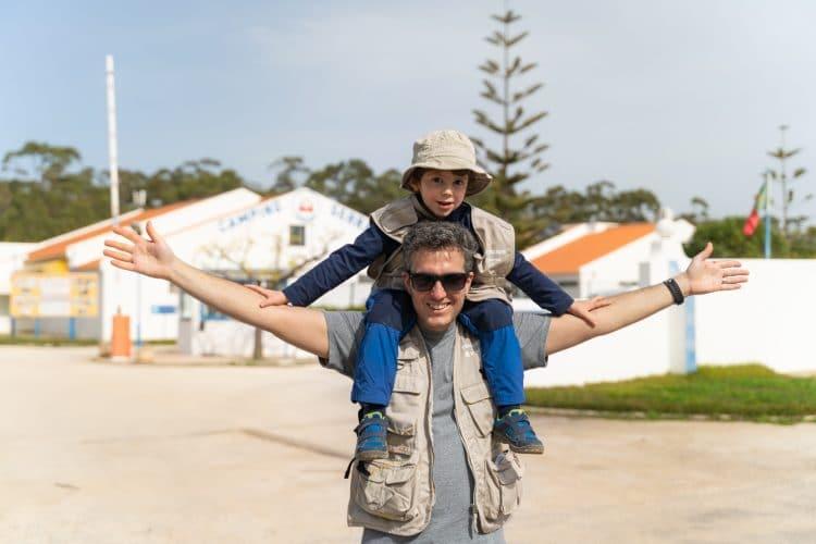 pai e filho na rota vicentina