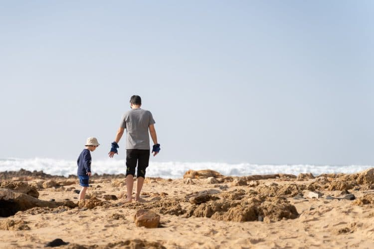 son and dad in rota vicentina
