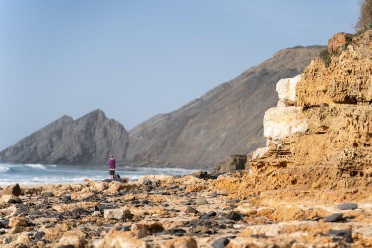 rocky beach in rota vicentina