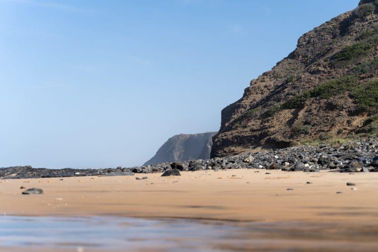 nice beach in portuguese coast