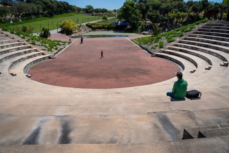 amphitheater Buddha Eden