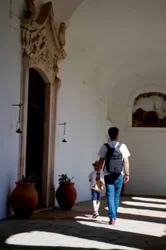 convento de são paulo corridor door decorations