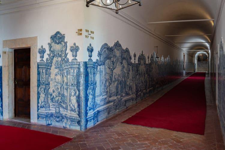 convento de são paulo corridor with tiles