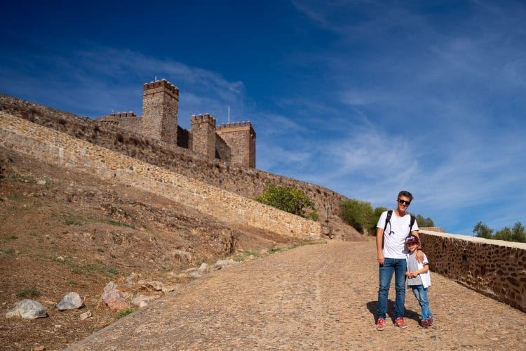 Going up to the Castle of Cortegana