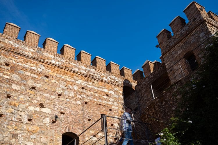 Cortegana inside the castle walls