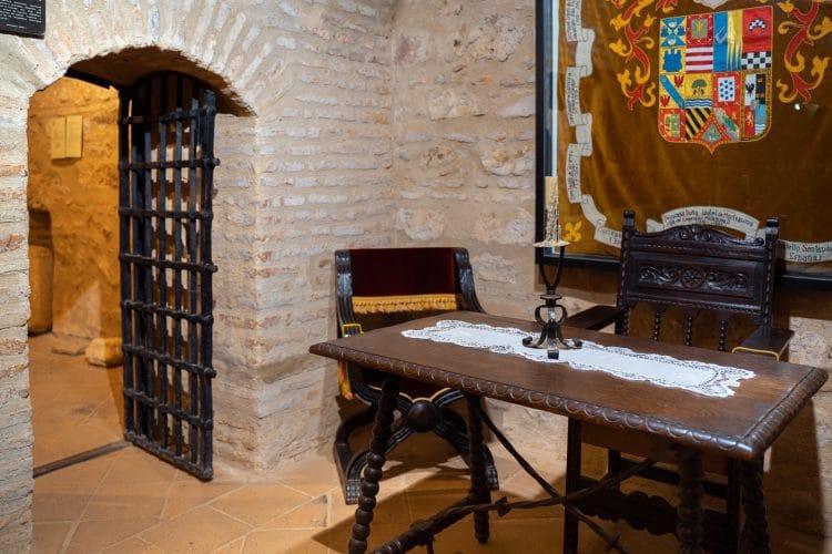 Cortegana inside the castle
